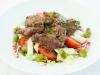 Salatteller mit Rinderfiletstreifen und Schäfer Spargel